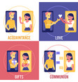 love chat online dating banners set vector image