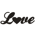 Love design icon vector image vector image