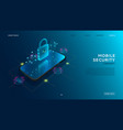 mobile security modern concept vector image vector image