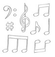 music signs notes and symbols isolated on white vector image