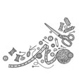 needlework sewing tools vector image