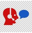 Operator Message Balloon Icon vector image vector image