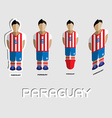 Paraguay Soccer Team Sportswear Template vector image vector image