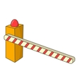 Parking barrier icon cartoon style vector image vector image