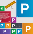 parking icon sign buttons Modern interface website vector image