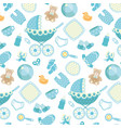 pattern baby background vector image vector image