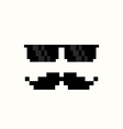 Pixel Art Suns and Moustache vector image vector image
