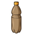 plastic bottle with beer object vector image