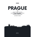poster city skyline prague flat style vector image