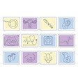 pregnancy and childbirth line icons vector image vector image