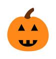 pumpkin happy halloween funny creepy smiling face vector image vector image