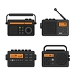 Radio Icon Set vector image vector image