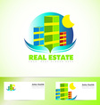 Real estate logo icon vector image vector image