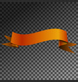 realistic shiny brown ribbon banner isolated vector image vector image