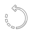 rotate image line icon vector image vector image