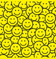seamless pattern with smile icons vector image