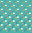 seamless pattern wrapped gifts on a mint green vector image