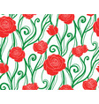 seamless texture with intertwined vines and roses vector image vector image