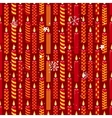 Seamless vintage red pattern with traditional vector image