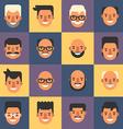set flat design people avatar icons mens 16 vector image