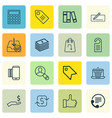 set of 16 commerce icons includes e-trade vector image vector image