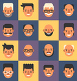 Set of Flat Design People Avatar Icons Mens 16 vector image vector image