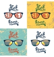 Set of four calligraphic summer backgrounds vector image