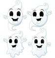 set of halloween ghost cartoon vector image