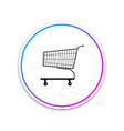 shopping cart icon isolated on white background vector image