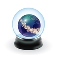 Snow globe template vector image vector image