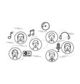 sound flat icon design vector image