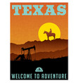 texas travel poster or sticker vector image vector image