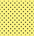 tile pattern with black polka dots on yellow vector image vector image