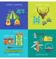 Tourist Camping Flat Compositions vector image vector image