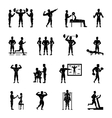 Trainer White And Black Set vector image vector image
