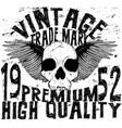 vintage skull t shirt graphic design vector image vector image