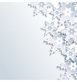 Winter gray background abstract 3d snowflake vector image