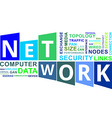 word cloud network vector image vector image