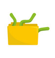 worm in file icon flat style vector image