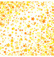 yellow stars background element in flat style vector image