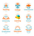 isolated abstract colorful education and learn vector image