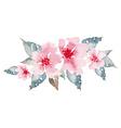 Spring flowers watercolor vector image