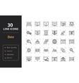 30 development line icons vector image