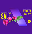 sale summer sale get your discount horizontal vector image