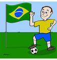 Brazil soccer player vector image