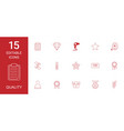 15 quality icons vector image vector image
