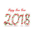 2018 happy new year 3d number sign in vector image vector image