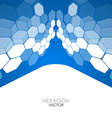 Abstract blue background hexagon vector image