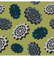 abstract colored cogwheels - seamless pattern vector image