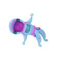 astronaut character flying in space cartoon vector image vector image
